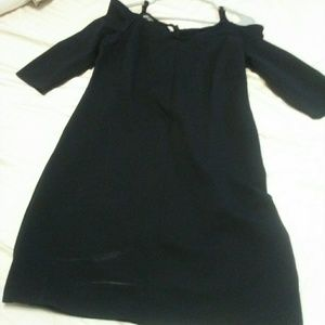 Long sleeve black dress stretchy